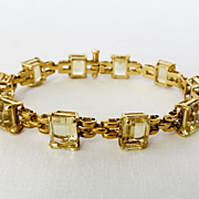 Beautiful Vintage Lady's 18K Citrine Bracelet