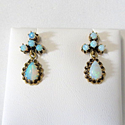Lady's Vintage 14K Opal Earrings