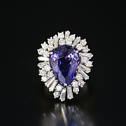 Magnificent Lady's 5.58 Ct. Tanzanite & 2.35 Ct. Diamond Ring