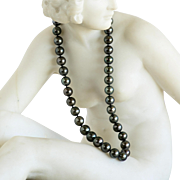 Lady's Vintage Gray Tahitian Cultured Pearl Necklace