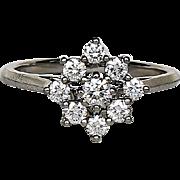 Lady' Vintage Signed Tiffany Platinum Diamond Ring
