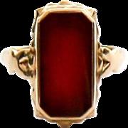 Antique Lady's 14K Carnelian Ring
