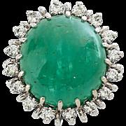 Vintage Circa 1920's Lady's 14K Emerald & Diamond Ring