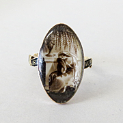 Antique 18K Dated 1795 Georgian Mourning Ring