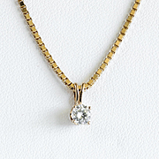 Lady's Vintage 14K .30 Ct. Diamond Pendant