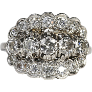 Lady's Circa 1930's Platinum 1.65 Carat Diamond Ring