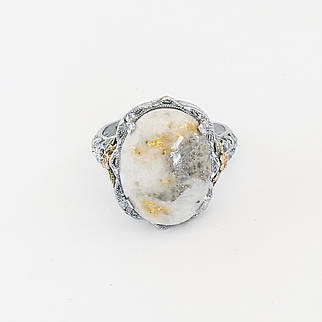 Lady's Vintage 10K Gold Quartz Ring