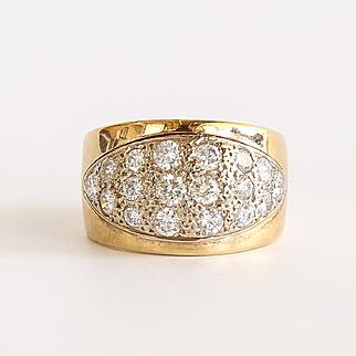 Vintage Lady's 14K 2 Carat Diamond Ring
