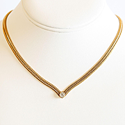 Lady' Custom Vintage 14K Diamond Necklace