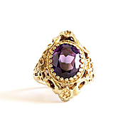 Beautiful Lady's Vintage 10K Synthetic Alexandrite Ring