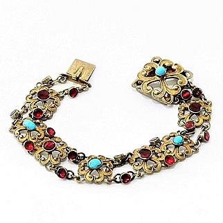 Lady's Circa 1890 10K Austro-Hungarian Bracelet