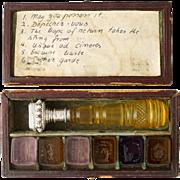 Rare Antique Wax Seal Desk Set, Multi Intaglios, Box