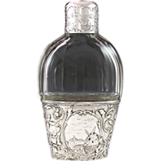 Superb Dutch .833 Silver & Cut Glass Liquor Whiskey Flask