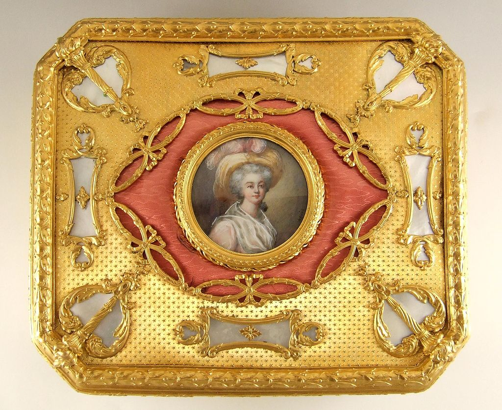 Massive Antique French Miniature Portrait Amp Guilloche