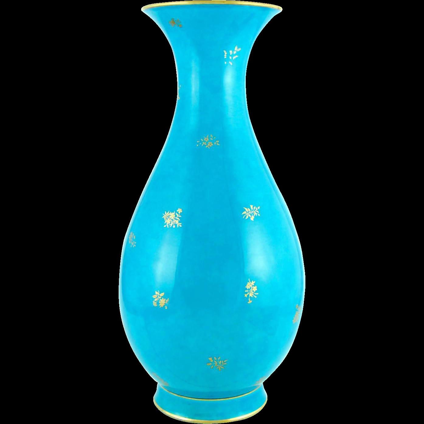 13 antique sevres french porcelain turquoise blue vase. Black Bedroom Furniture Sets. Home Design Ideas
