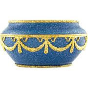 French Paul Milet for Sevres Porcelain Cabinet Vase, Blue Speckled Glaze, Empire Style Gilt Bronze Mounts