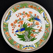 French Sterling Silver Tetard Freres Limoges Porcelain Dessert Plate, 2