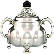 Late 19thc to Early 20thc German 830 Silver Sugar Bowl BWKS / Wilhelm Schultze Bremen