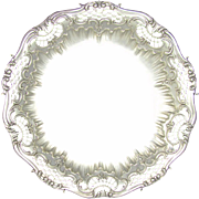 Antique Belle Epoque French Sterling Silver Pierced & Repousse Centerpiece Tazza / Tray by TETARD