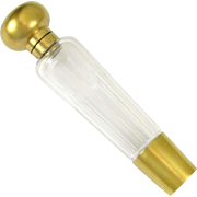 Antique French .800 Silver Gilt Vermeil Cut Crystal Opera 'Spirits' Liquor Flask
