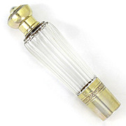 Antique French Sterling Silver Cut Crystal Opera / Travel Liquor 'Spirits' Flask, Henri Soufflot