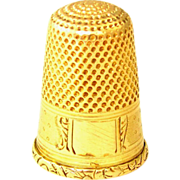 Antique French 18K Yellow Gold Hallmarked Sewing Thimble