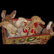 ** Nice German Box With 7 Handpuppet Animals ***