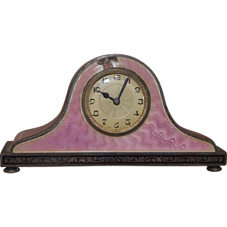 *** Wonderful Enamel Miniature Clock 1920**