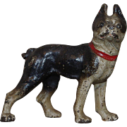 ** Small Painted Metal Bull Dog ***