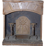 *** Salesman Sample / Fashion doll size Fireplace 1900 ***