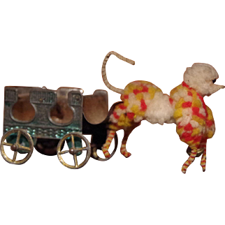 *** Penny toy with Chenille Dog 1880**