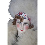 ** Lovely Large Boudoir Flapper Doll 1930 **