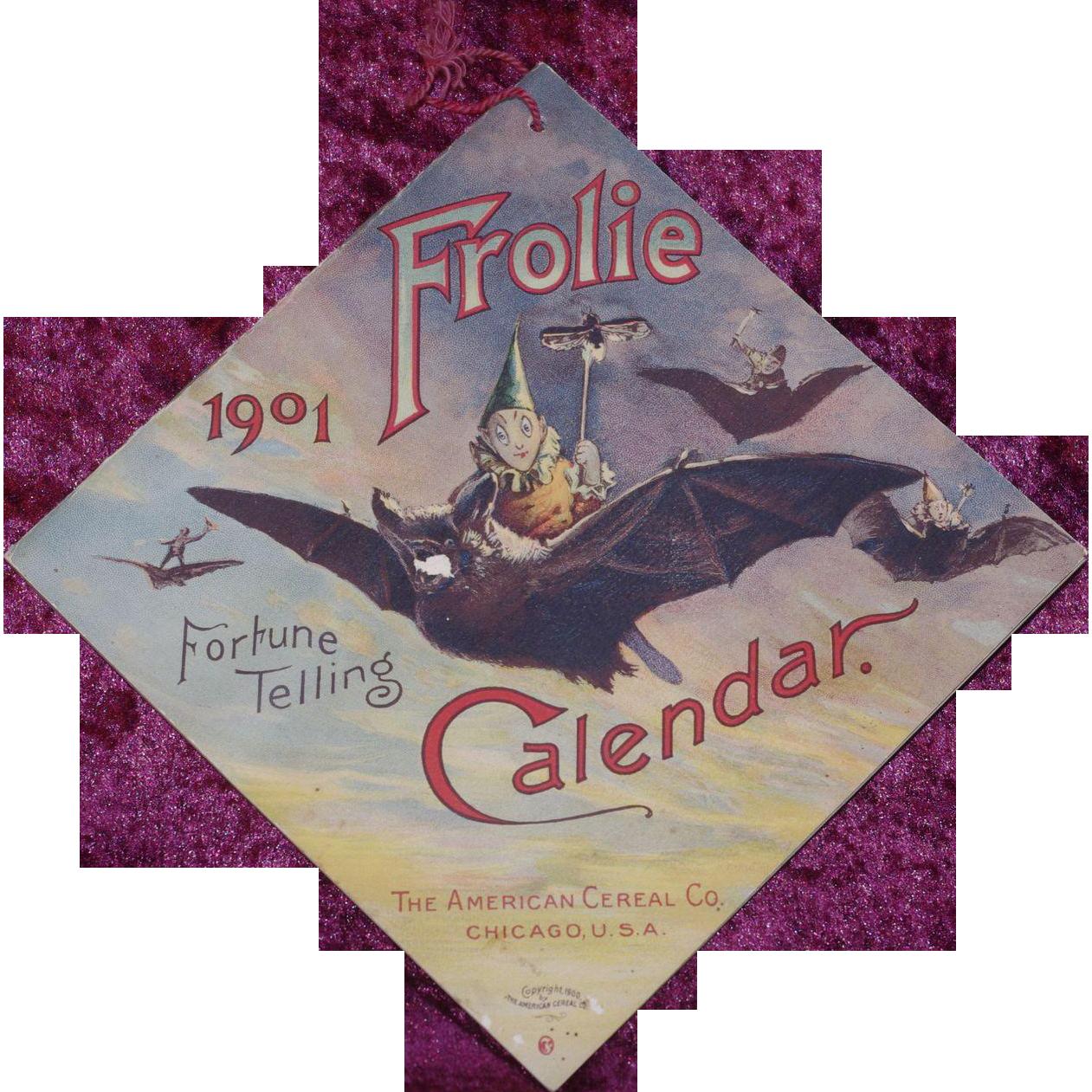 ***Fortune Telling calender Frolie 1901 **