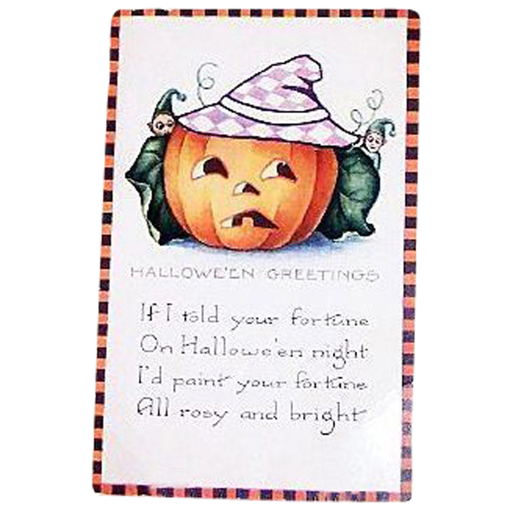 Whitney: Halloween Greetings Postcard - Marked