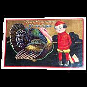 B&S: Thanksgiving Greetings Postcard - 1913