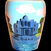 Vintage Hand Painted Alamo Pottery Vase