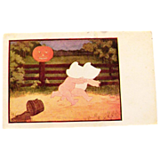 "Halloween ""The Bogie Man"" Postcard by J I Austen"