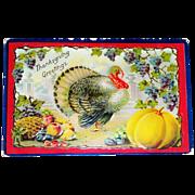 Thanksgiving Greetings Postcard - Marked
