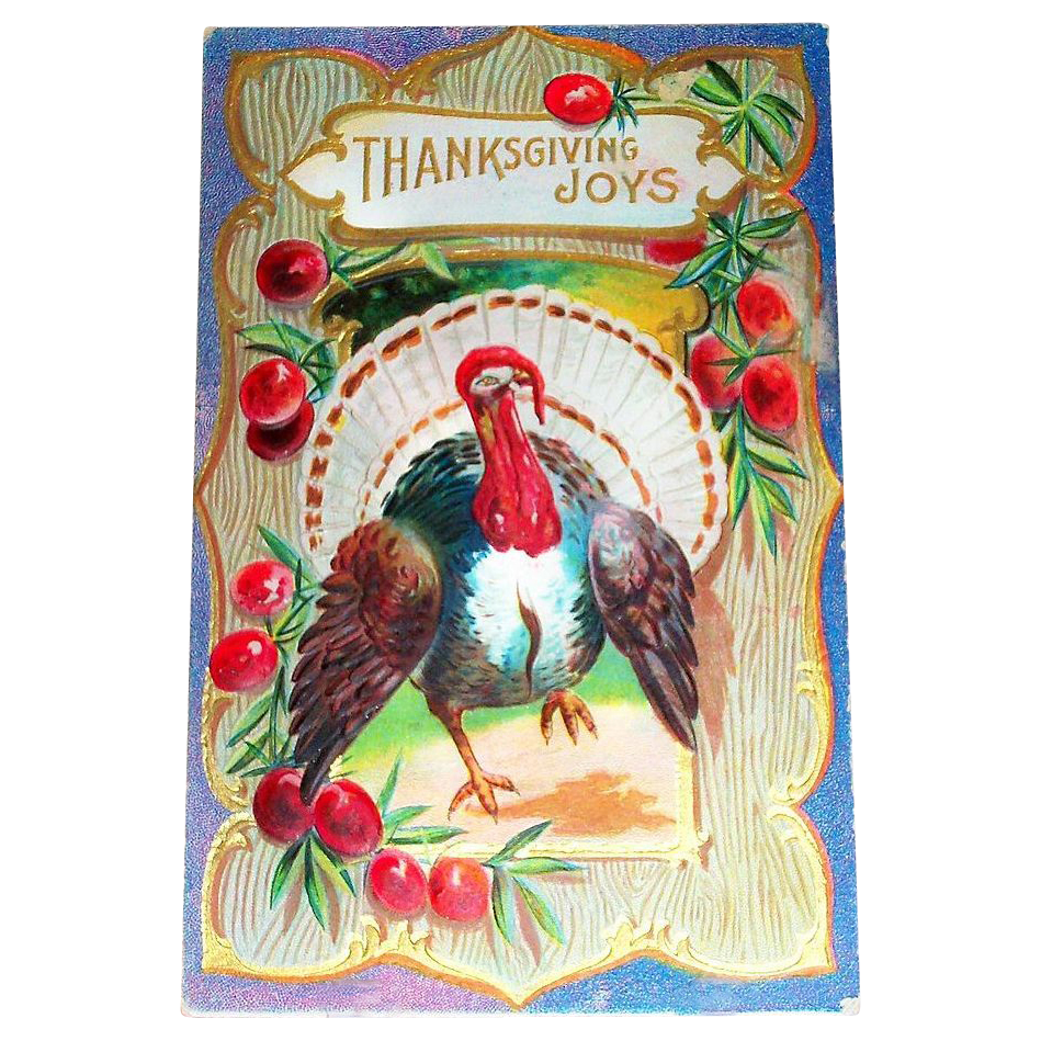 Thanksgiving Joys Postcard