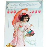 Tuck: Loving Easter Greetings Postcard - Marked