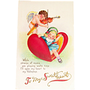 Vintage Valentine Postcard - To My Sweetheart