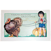 Whitney: Thanksgiving Greetings Postcard - Marked
