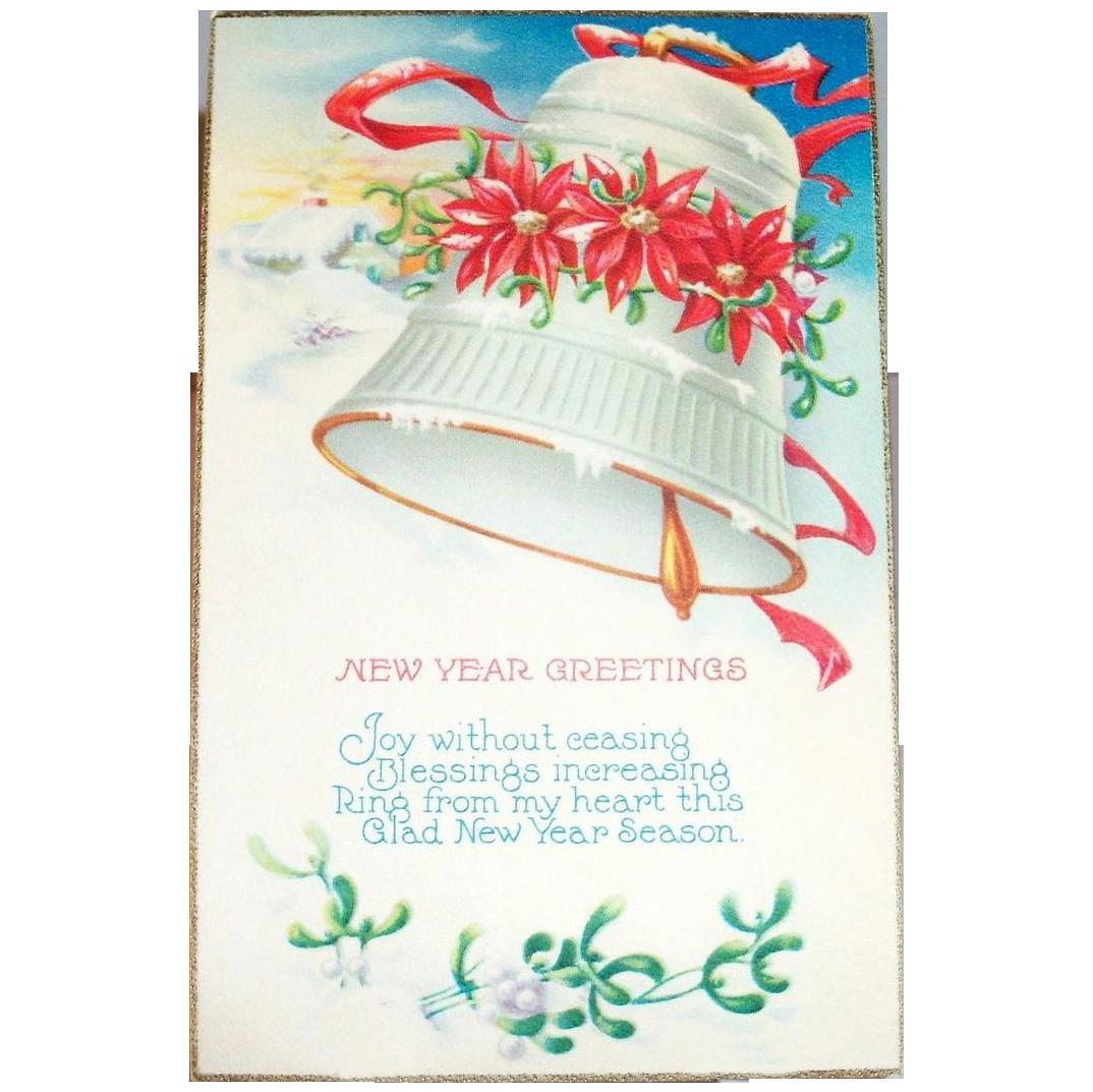 New Year Greetings Postcard
