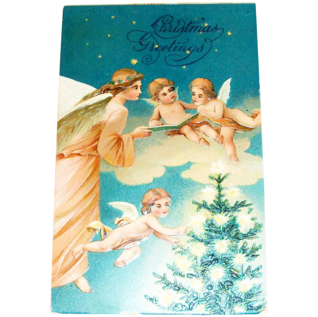 Christmas Greetings Postcard - Marked