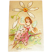 Vintage Valentine Postcard - One I Love