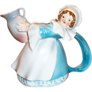 Royal Bayreuth Handpainted Porcelain Colonial Serving Lady Creamer - Marked