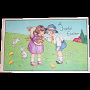 A Joyful Easter Postcard - Marked