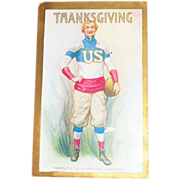 "Uncle Sam ""World's 20th Century Champion"" Thanksgiving Postcard"