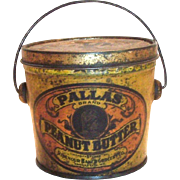 Vintage Pallas Peanut Butter Tin Bucket