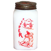 McKee Siesta Red Sombrero Pepper Shaker